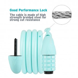 Bike Lock Cable, 4-Feet Bike Cable Basic Self Coiling Resettable