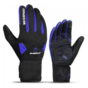 INBIKE Men's Touch Screen Cold Weather Thermal Windproof Gel Bike Gloves