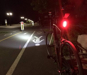 Cycle Torch Fire Stick- USB Rechargeable Bike Tail Light, RED Rear Bicycle Light LED